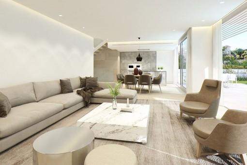 Komfortabler Wohn-und Essbereich