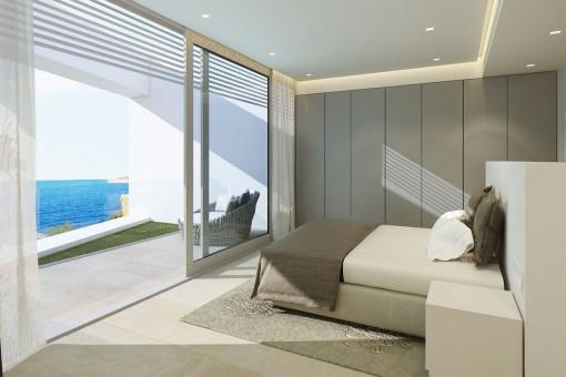 Die Villa bietet Meerblick von allen Räumen