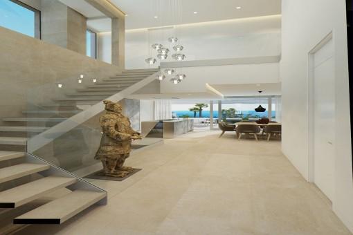 Moderne und elegante Architektur