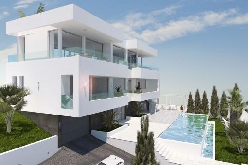 Moderne Villa mit Meerblick in zentraler Lage in Palmanova