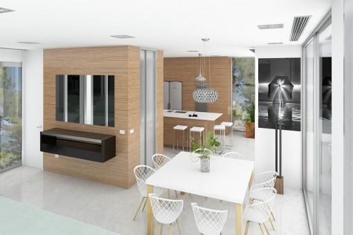 Essbereich neben der Küche