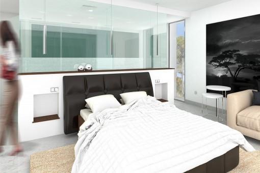 Modernes Hauptschlafzimmer