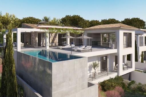 Modernes Bauprojekt in bester Lage von Nova Santa Ponsa mit Meerblick