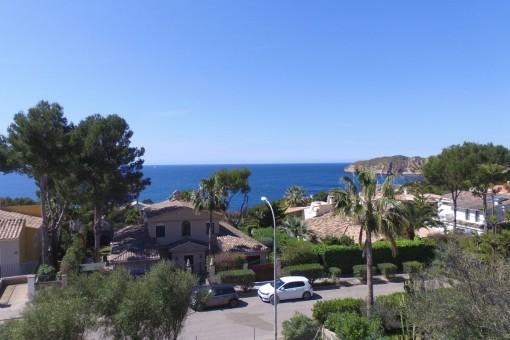 Magníficas vistas al mar desde la villa