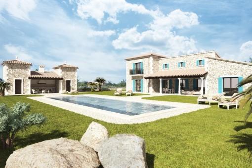 Exklusives, authentisches Landhaus von bester Bauqualität in traumhafter Umgebung von Porreres