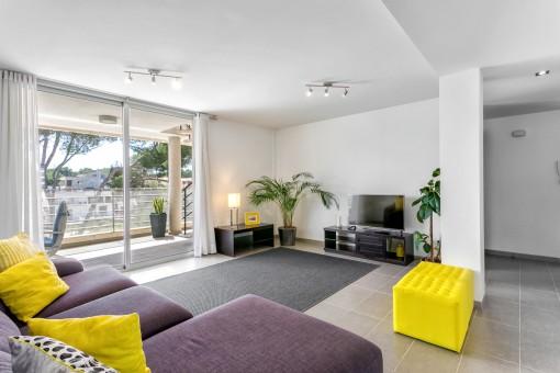 Komfortable Penthouse-Wohnung in kleinem Apartmenthaus mit toller Dachterrasse und Meerblick in Can Picafort