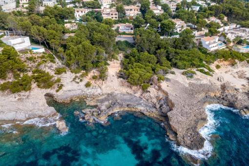 Wunderschönes Grundstück in erster Meereslinie in Font de Sa Cala