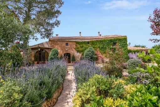 Die mallorquinische Finca ist ideal um die Ruhe und die umgebenden Natur zu genießen