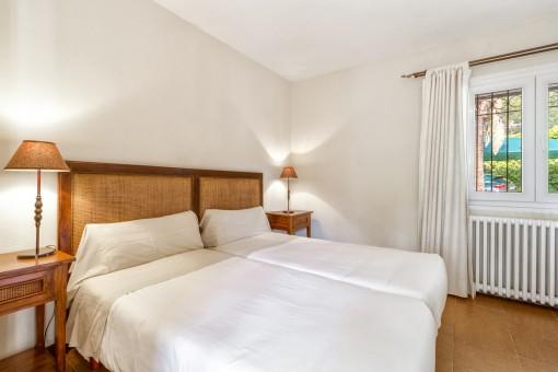 Komfortables Doppelschlafzimmer mit Heizung