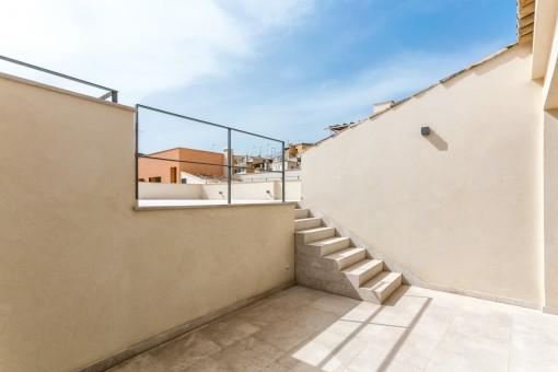 Zugang zu der Terrasse