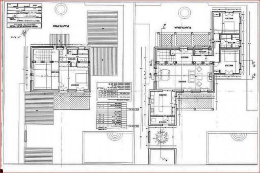 Bauzeichnungen der Etagen
