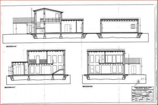 Zweite Bauzeichnung