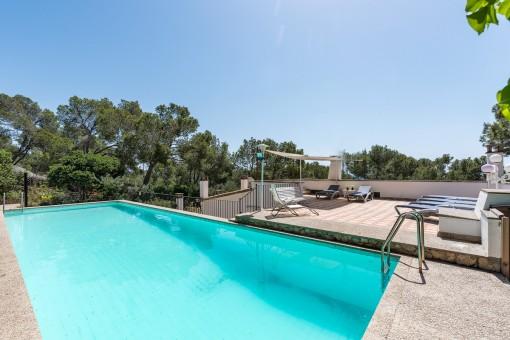 Ein schönes Haus mit Meerblick in der herrlichen Gegend von Alt Bendinat