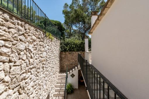 Treppenaufgang der Terrasse