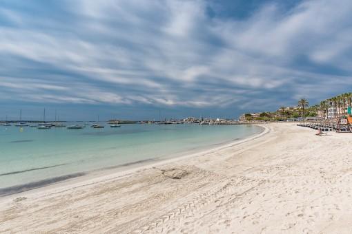 Alternative Ansicht des Strandes