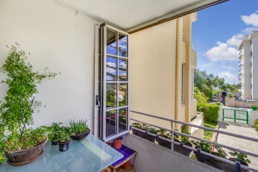 Alternative Ansicht von dem Balkon
