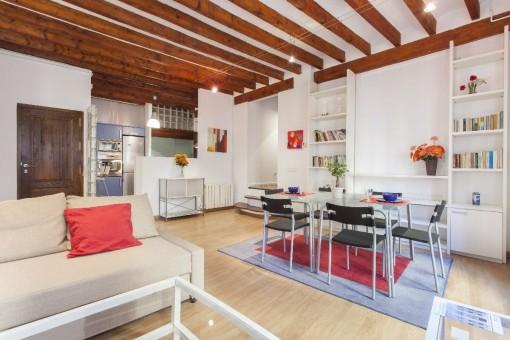 Geräumige, möblierte 3 Zimmer Wohnung in der Altstadt von Palma