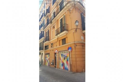 Das Haus befindet sich im Herzen von Palma