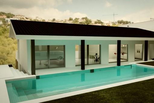 Grandioses Villenprojekt mit großem Garten in Alt Bendinat