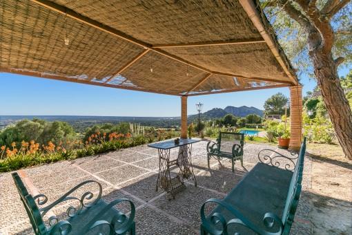 Finca in Llucmajor mit unvergleichlichen Blick über den Süden von Mallorca