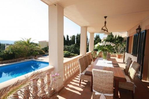 Die Villa ist ideal für eine Familie