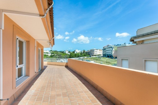 Schöne Aticowohnung mit großen Terrassen in Son Espanyolet