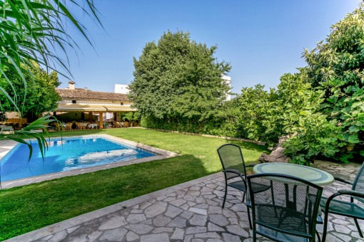 Landhotel im Herzen von Alaró mit 8 eleganten Zimmern, Restaurant und Pool