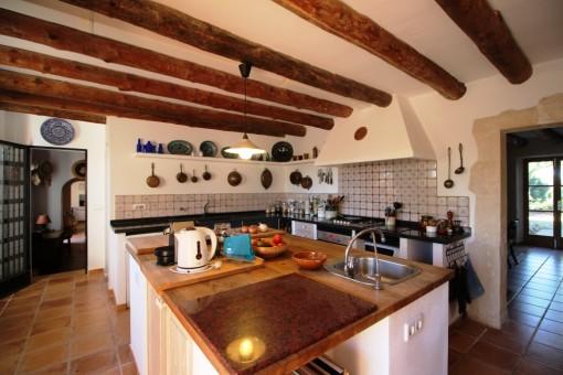 Küche im Haupthaus