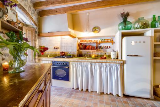 Traditionelle Küche im mallorquinischem Stil