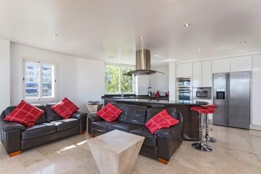 Wundervoller Wohnbereich mit offener Küche