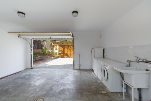 Garage und Waschküche