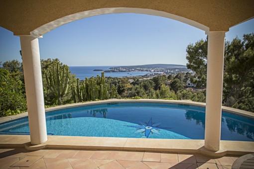 Magisches Anwesen mit Meerblick in Costa de'n Blanes