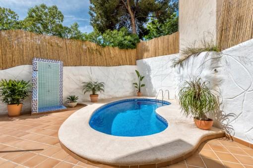 Neu gestaltetes Chalet mit eigenem Pool in Camp de Mar