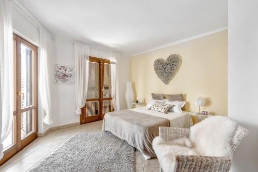 Das zweite komfortable Schlafzimmer