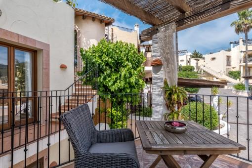 Terrasse mit charmanten Sitzbereich