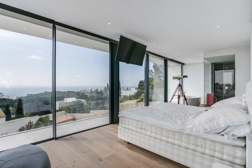Luxuriöses Gästezimmer mit Panoramablick