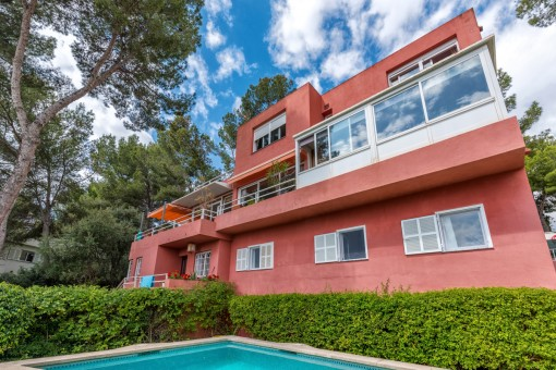 Doppelhaushälfte mit Meerblick in Cas Catala