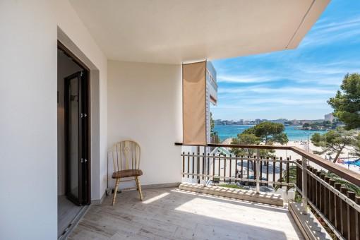 Schönes Apartment mit Meerblickterrasse in Palmanova
