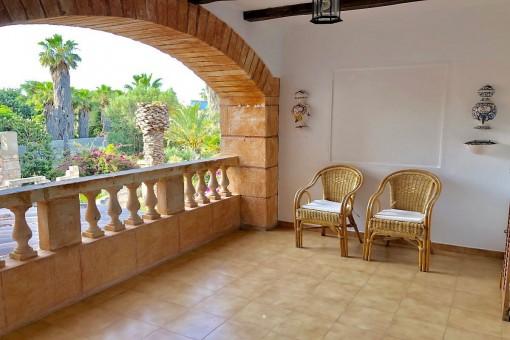 Kleine Wohnung mit schöner Terrasse in Son Servera