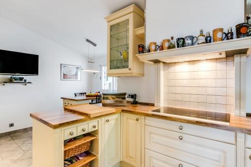 Küche mit Highend-Küchengeräten