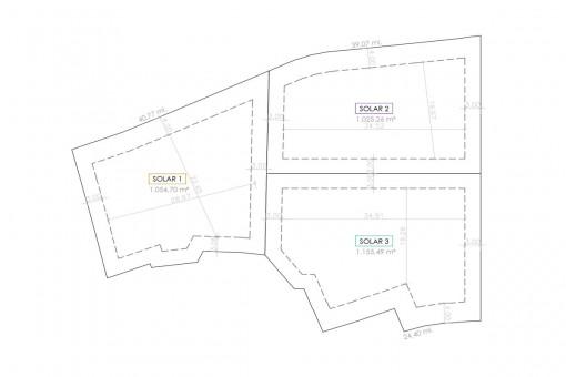 Plan der Grundstücke