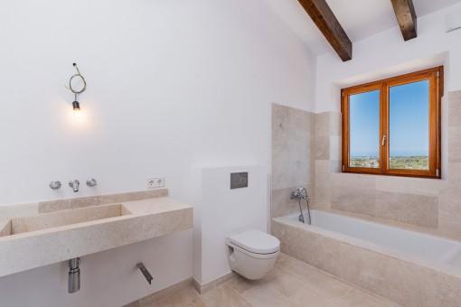 Elegantes Design des Badezimmers