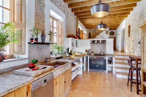 Neue Küche in einem authentischen Stil