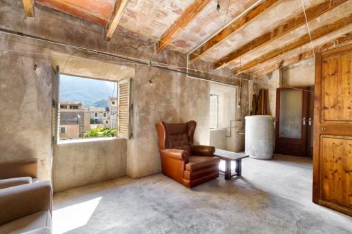 30 qm großer Dachboden