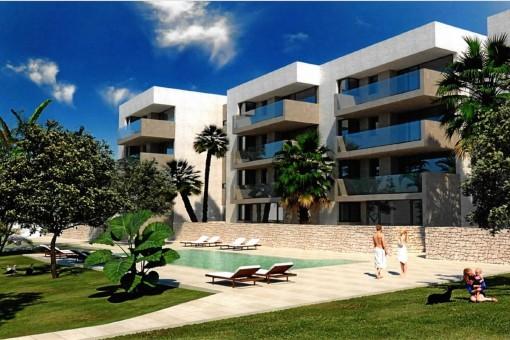 Gesucht wird hier ein Investor- Exklusives Neubauprojekt mit 11 Häusern und 29 Wohnungen in Font de Sa Cala