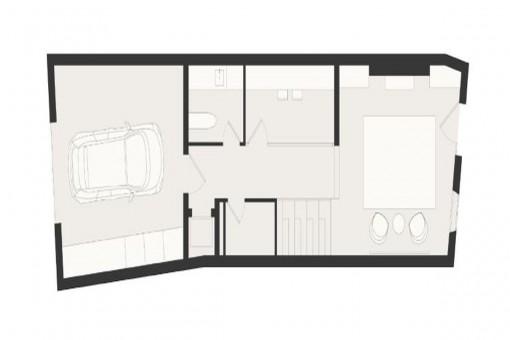Bauzeichnung: Garage und Erdgeschoss