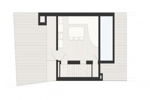 Bauzeichnung: Dachterrasse