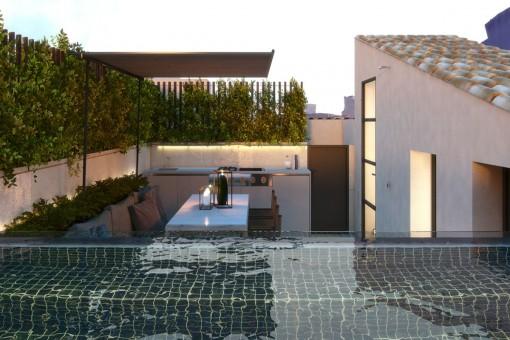 Poolbereich auf der Terrasse
