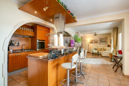 Moderne Küche mit Bartheke