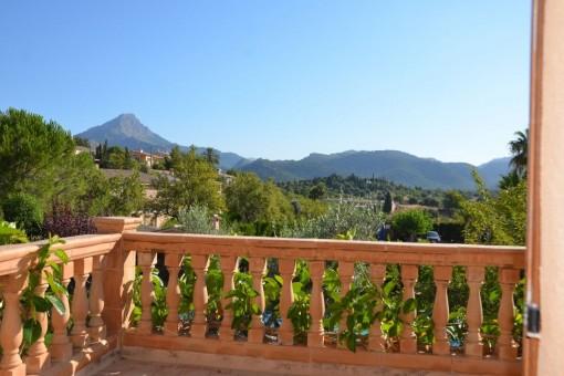Wundervoller Landschaftsblick von der Terrasse aus